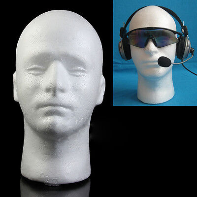EPS Foam Male Mannequin Styrofoam Foam Head Model Wig Glasses Hat Display Stand