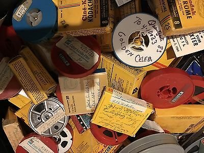 8mm Super 8mm Home Movie Lot Over 100 Home Movies Vintage 1940's - 1970's