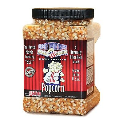 Great Northern Popcorn Premium Yellow Gourmet Popcorn, 4 Pound Jug