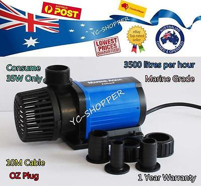 JEBAO SUPER ECO 35W 3500L/H SUBMERSIBLE WATER FEATURE POND PUMP 10M Power Cord