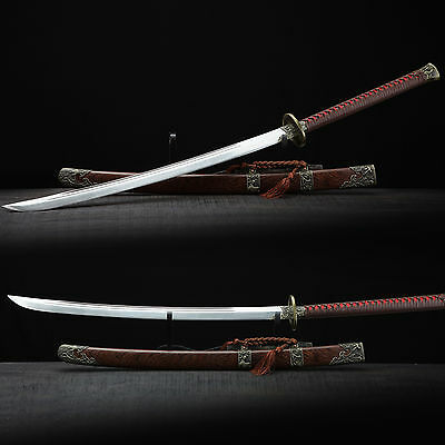 High Quality Hand Forged Pattern Steel Chinese Sword Sharp Blade Alloy Fitting