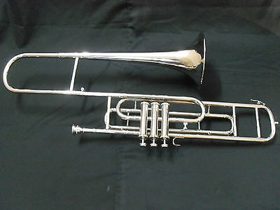 Trombone Valve Made Of Pure Brass In Chrome Polish + Mouthpc+Case+ Free Shipping