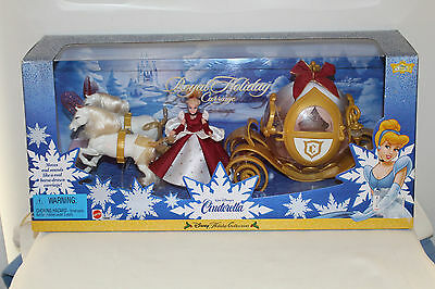 Cinderella Walt Disney Collection Royal Holiday Carriage Set Mattel 1998 NIB