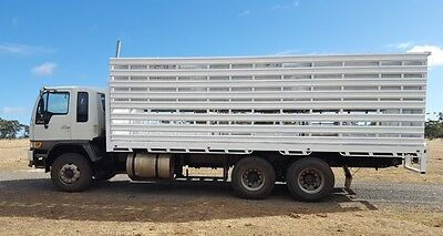 Hino FM 2001 6x4 axle grouping Truck & cattle/sheep crate.(Double Deck)