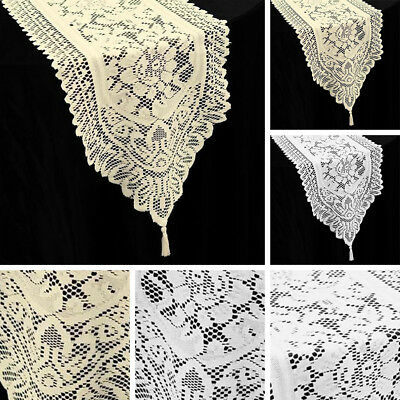 12 pcs LACE TABLE RUNNERS Wedding Party Catering Reception Linens Decorations