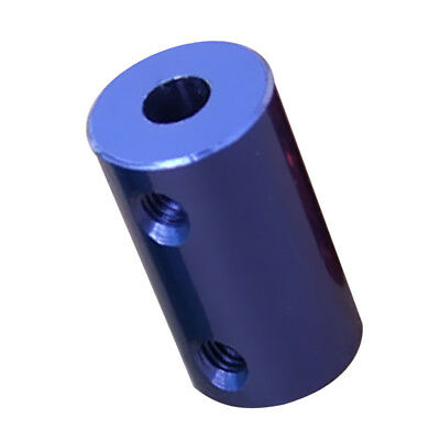 5-6.35mm Aluminum Alloy Flexible Shaft Coupling Coupler Motor Connector Blue
