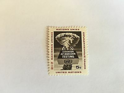 United Nations Unies Un New York Mnh 1964 Nuclear Testing