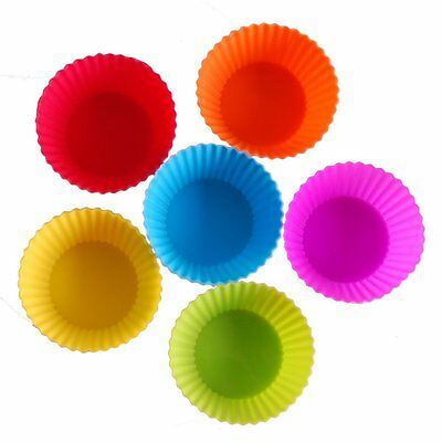 24pcs Reusable Silicone DIY Baking Cups Cupcake  Liners Muffin Cups Cake Molds