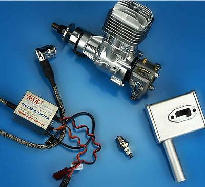 Original DLE20 20CC Gasoline Engine W/ Electronic Igniton & Muffler For RC Plane