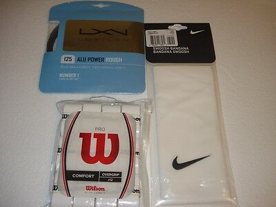 Nike Bandana & 12 Wilson ProOvergrips & 12m Alu Power Rough Set - Federer