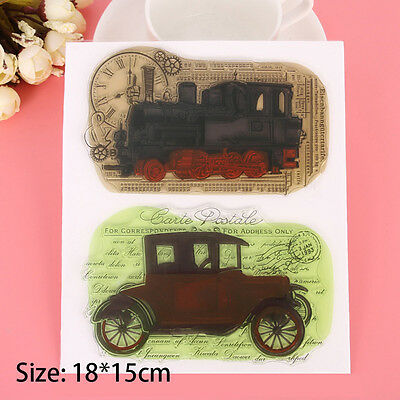 Car Transparent Silicone Rubber Clear Stamps Scrapbooking Embossing DIY Handmade