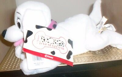 Rare Oddball Disney 102 Dalmatians Puppy Beanie Plush Toy with original labels