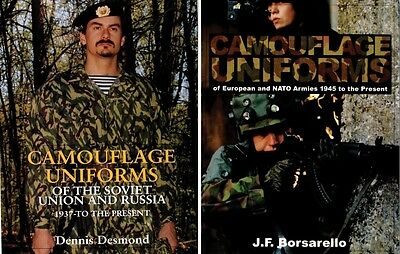 2 Schiffer Camouflage Uniforms Books Soviet Union Russia + European NATO Armies