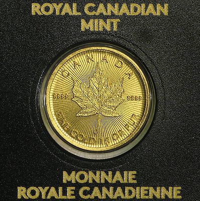 Piece Or Maple Gram 2016 $0,5 Canada 1 Gramme Or 999,9 Sous Scelle Gold Neuf