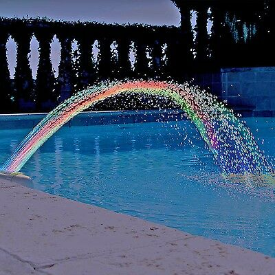 Colorfoul Pool Accessory Lights Show Waterfall Fountain Above Ground w/LED Light