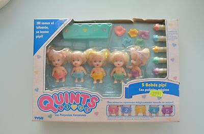 Quints with Magic Diapers Drink and Wet TYCO 1990 Vintage Dolls