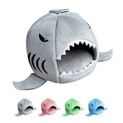 Unique Shark Mouth Pet Dog Cat House Removable & Washable Dog Bed Kennel