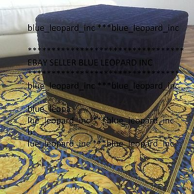 GIANNI VERSACE CUSTOM MADE FOOTSTOOL in navy