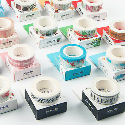 Multi Washi Tape Scarpbooking Aufkleber Decor Roll Papier Masking Adhesive Tape