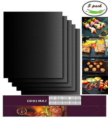 BBQ Grill Mat/Accessories Non-Stick , Reusable and Heat Resistant, Set of 5