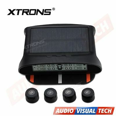 Car Solar TPMS Wireless Tyre Tire Pressure Monitor System + 4 External Sensors