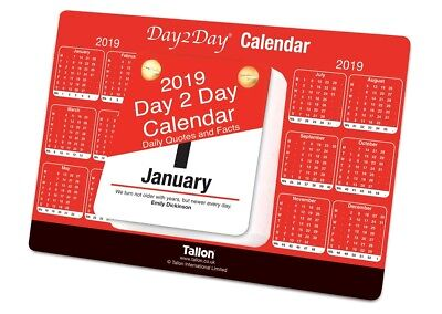 2018 Day To Day Desk Top Stand Up Tear Off Block Calendar with Quotes & Facts