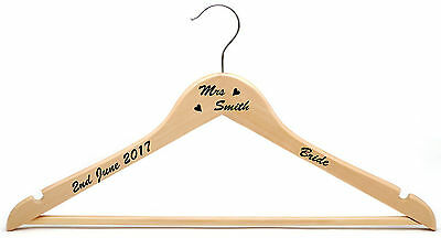Personalised Coat Hanger Decal Vinyl Sticker DIY Wedding Bridal Party Bride Brus