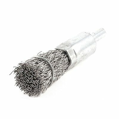 Silver Tone 16mm Diameter Steel Wire Polishing Grinding Brushes