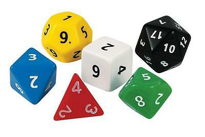 Jumbo Polyhedra Dice Set of 6 Maths Games Teacher Resource Classroom Primary
