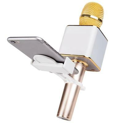 Universal Cell Phone Holder Mount Clip For Q7 Q9 Handheld Karaoke Microphone