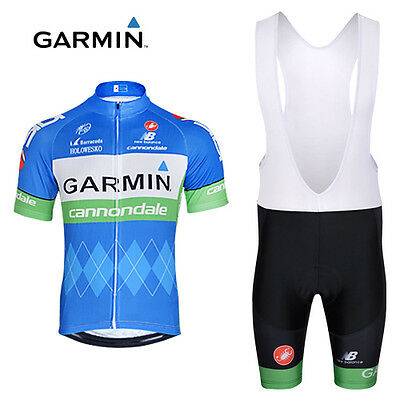 2017 Mens Cycling Team Short Sleeve Bicycle Jersey + Bib Shorts Set - Brand New