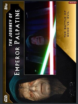 Star Wars Card Trader The Journey Of Emperor Palpatine Complete Set / Award