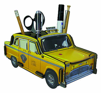 Stiftebecher Stiftebox New York Taxi Yellow Cab Checker Cab, Steckbausatz