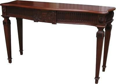 Solid Mahogany Adam Console Table Handcarved Antique Reproduction NEW T026