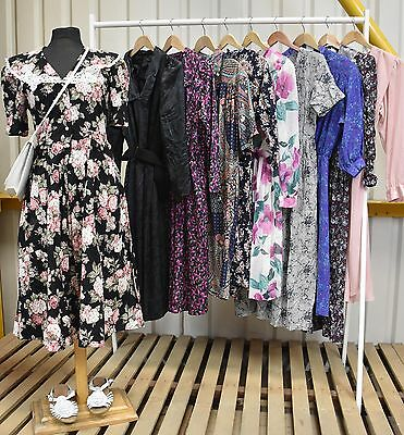 Job Lot Of 10 Vintage Summer Dresses. Mix Of Colours, Sizes And Styles. #40