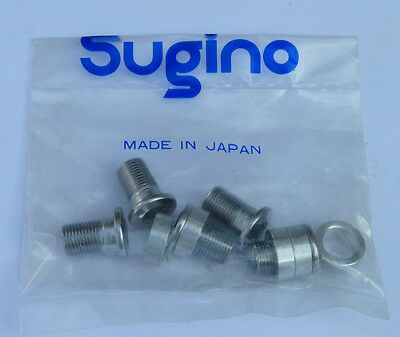 NOS Sugino bolts 4mm spacers set for inner chainring of triple crank set s43us