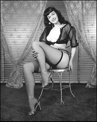 Bettie Page 6 x 4 Glossy Photo.