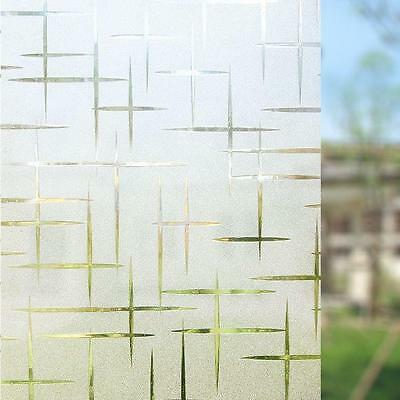 3D Frosted Window Film Static Cling Glass Privacy Door Blinds 44.5CM x 200CM