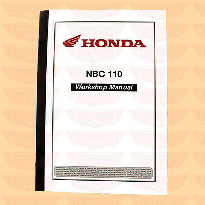 Honda Nbc110 Nbc 110 Super Cub Workshop Work Shop Manual For Nbc110 Postie Bike