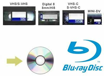 S-VHS SVHSC VCR VIDEO RECORDER TAPES 8mm Hi8 FOOTAGE TO BLU-RAY TRANSFER SERVICE