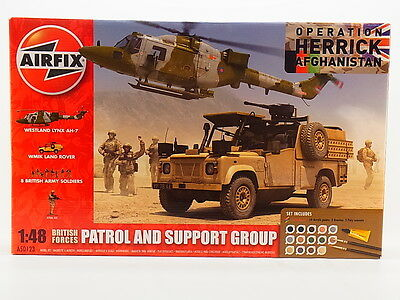 LOT 30907 | AIRFIX  A50123 British Patrol and Support Group 1:48 Bausatz NEU OVP