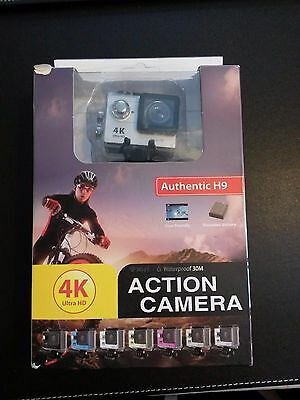 Silver 4K 2inch ULTRA HD WI-FI ACTION CAMERA AUTHENTIC H9 WATERPROOF 30M