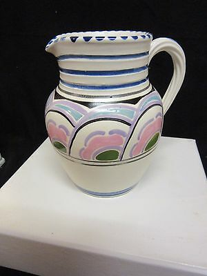 Vintage Honiton Pottery jug creamer Vase hand painted decorative item 13cm tall