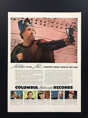 Columbia Records | 1943 Vintage Ad | 1940s Music Lauritz Melchior