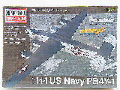 "LOT 11931 | Minicraft 14687 ""US Navy PB4Y-1"" 1:144 Bausatz NEU in OVP"