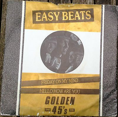 The Easybeats Friday On My Mind 7 inch vinyl Golden 45s re-release