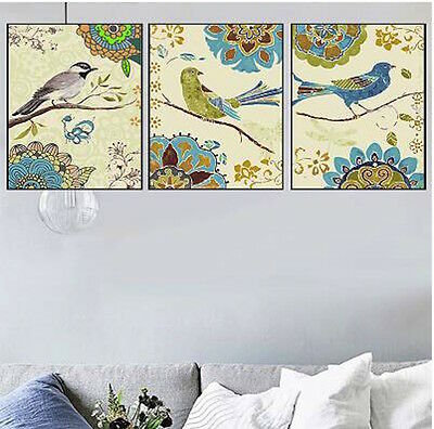 Set of Three 40*50cm Canvas Painting by Number Kit ART FUN S5 F3P012 HOME DECOR