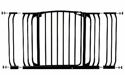 Dreambaby Xtra-Wide Gate Set - 1 gate + 2 extensions (Fits 97cm-133cm) EXDISPLAY