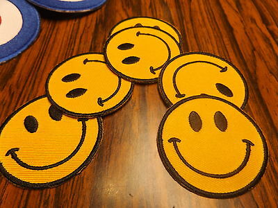 smiley face acid houe 1990s look IRON ON PATCH-NEW-dnce rave