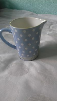 Jug Blue and White Poker Dot  6x7 new